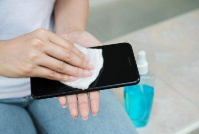 desinficering av mobiltelefon